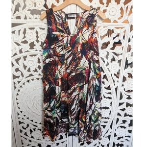Patrizia Luca | Multicolor Linen Sling Dress